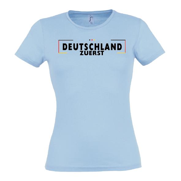 Grenze Lady T-Shirt blau
