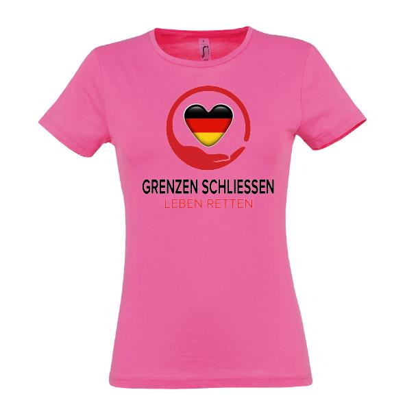Grenze Lady T-Shirt pink