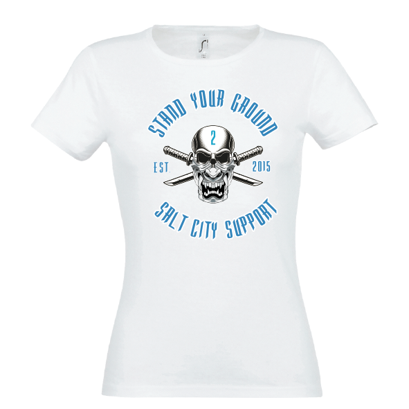 Supporter Lady T-Shirt weiss