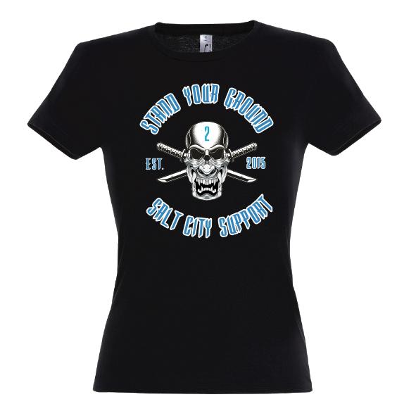 Supporter Lady T-Shirt schwarz