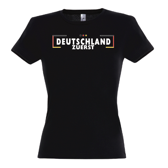 Grenze Lady T-Shirt schwarz
