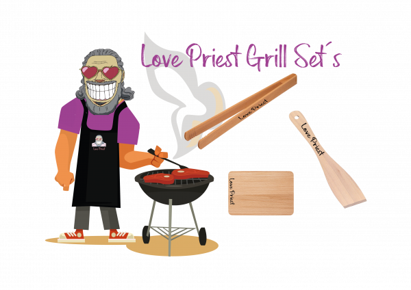 Love Priest Grillset Bronze