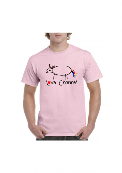 Love Channel T-Shirt rosa
