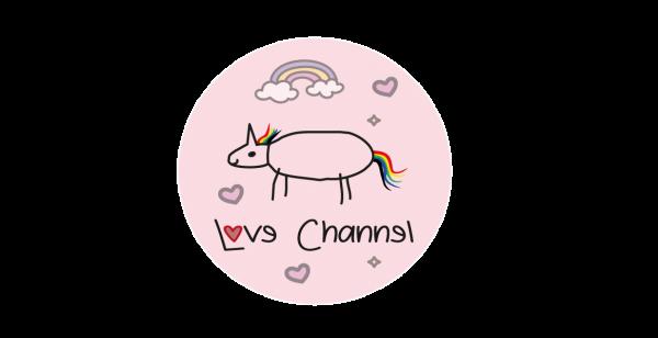 Love Channel Aufkleber rosa