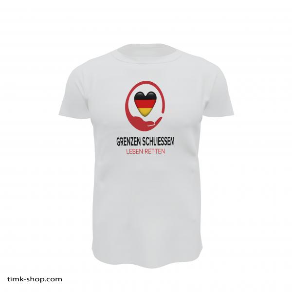 Grenzen schließen T-Shirt weiss