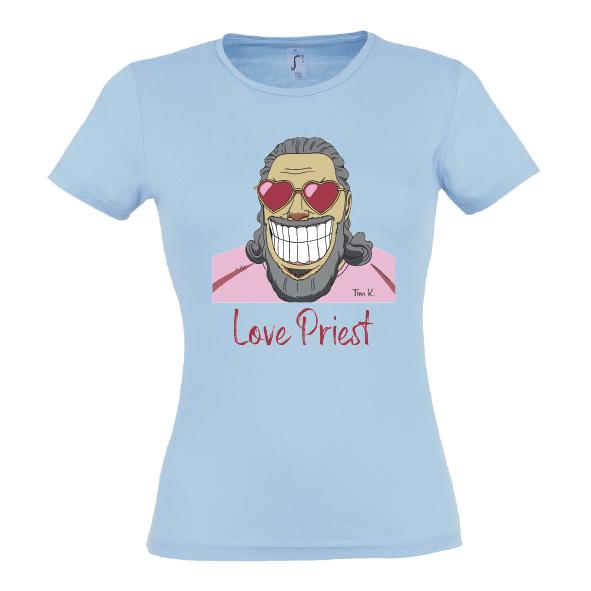 Love Priest Lady T-Shirt blau