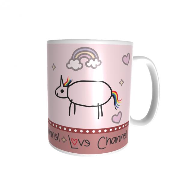 Love Channel Tasse rosa