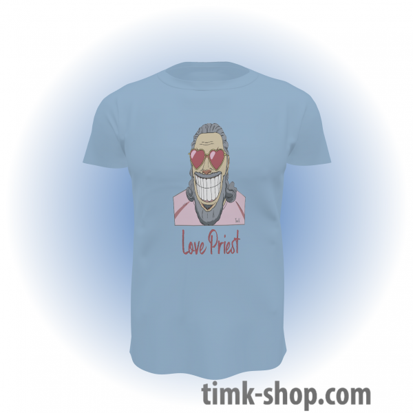 Love Priest T-Shirt blau