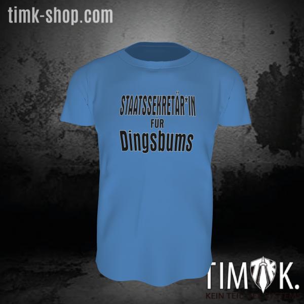 Staatssekretär*in für Dingsbums T-Shirt blau