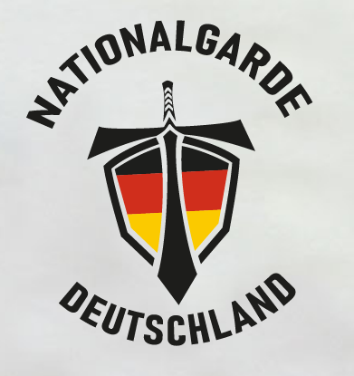 Nationalgarde Aufkleber weiss