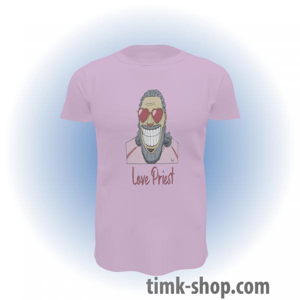 Love Priest T-Shirt rosa
