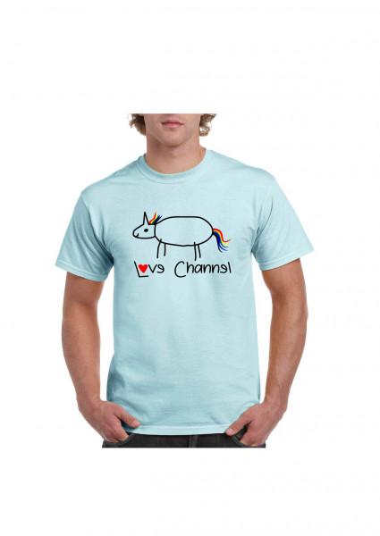 Love Channel T-Shirt blau