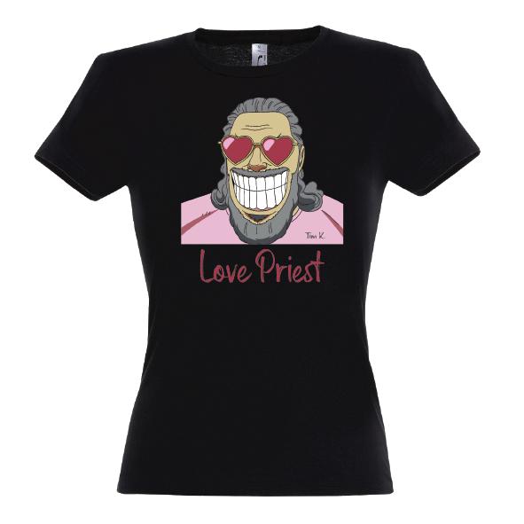 Love Priest Lady T-Shirt schwarz