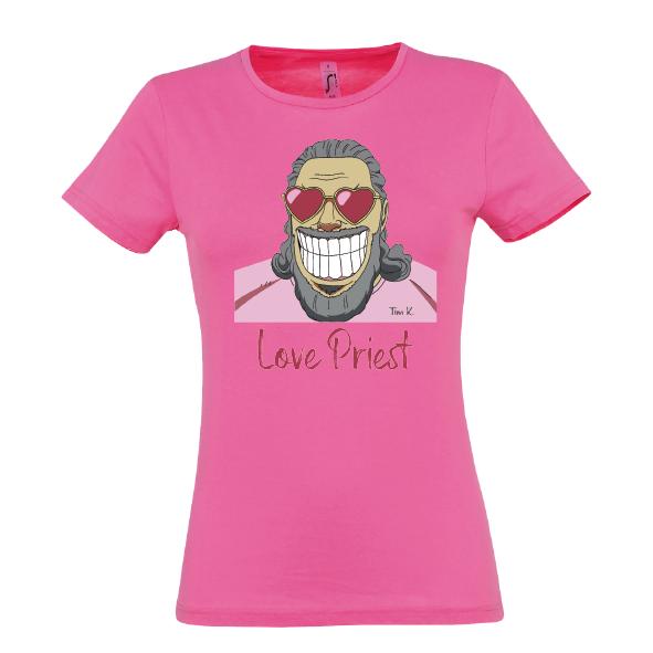Love Priest Lady T-Shirt pink