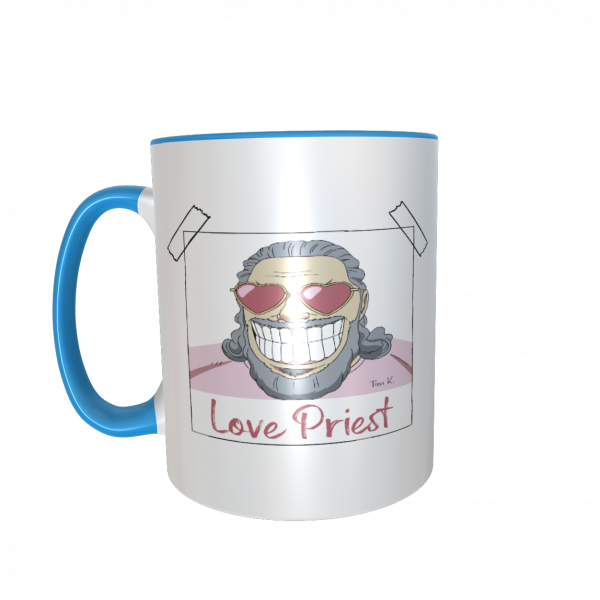 Love Priest Tasse blau