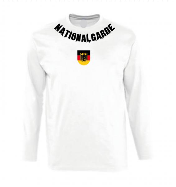 Nationalgarde Langarmshirt weiss