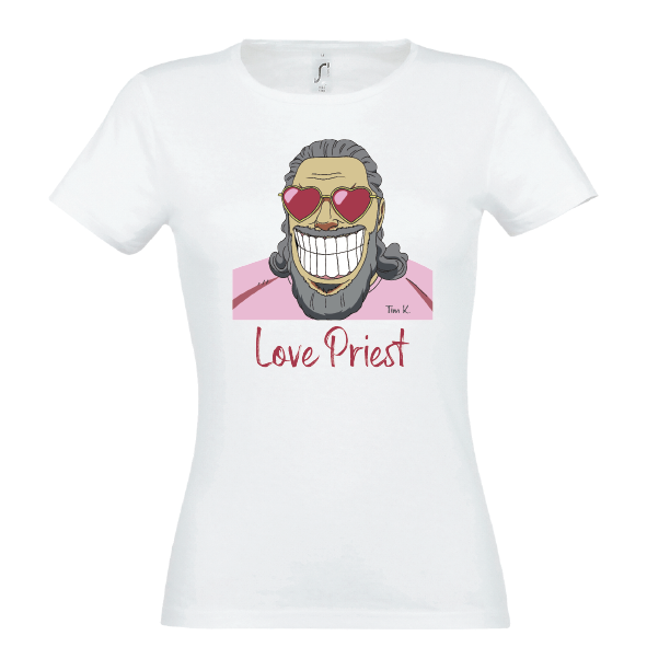 Love Priest Lady T-Shirt weiss