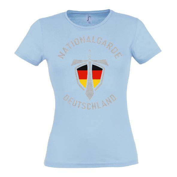 Nationalgarde silber Lady T-Shirt blau