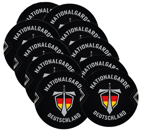 Nationalgarde 10er Set Bierdeckel