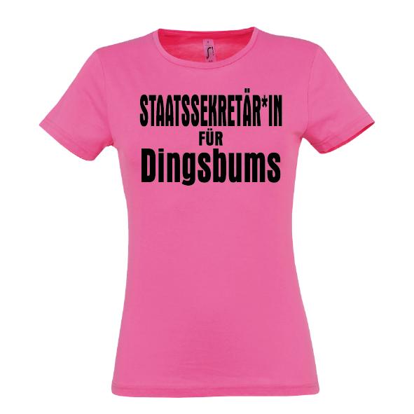 DingsBums Lady T-Shirt pink