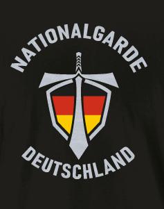 Nationalgarde Aufkleber schwarz
