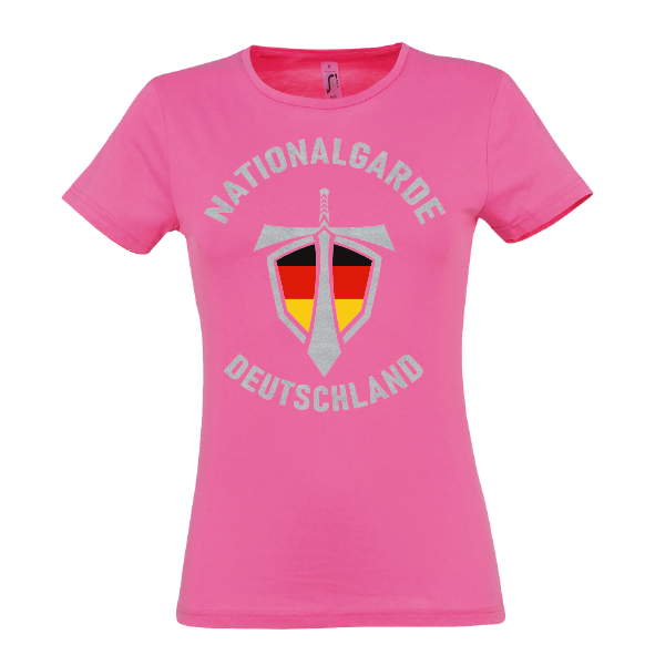 Nationalgarde silber Lady T-Shirt pink