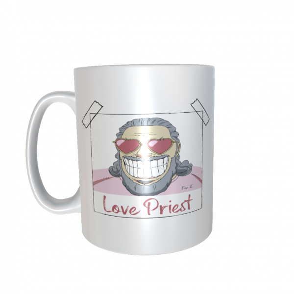 Love Priest Tasse weiss