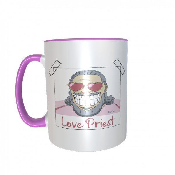 Love Priest Tasse rosa
